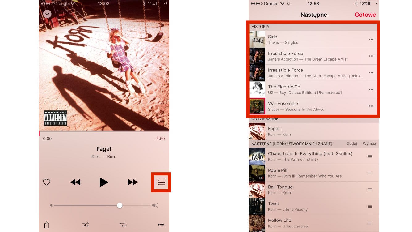 Apple Music Historia Odtwarzania