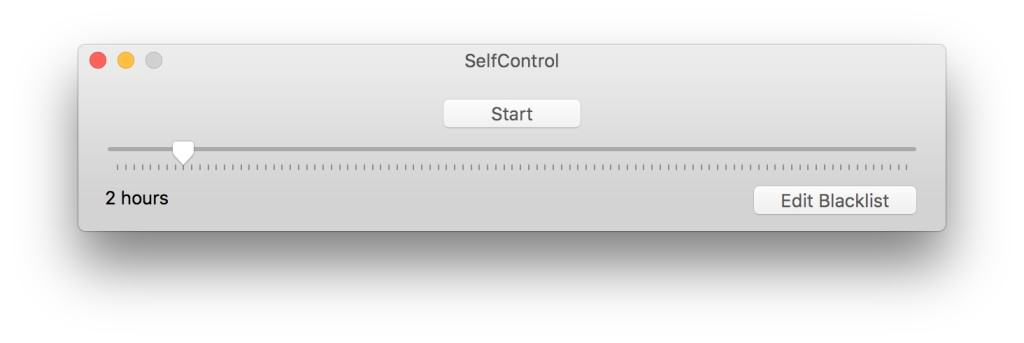 SelfControl GUI