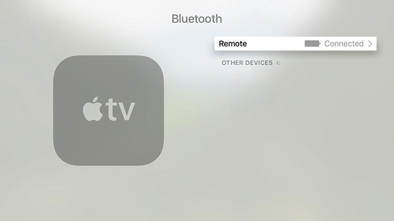 Siri Remote Battery Level